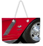 1962 Chevrolet Corvette Wheel Weekender Tote Bag