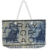 1962 Pray For Peace Stamp Collage Weekender Tote Bag