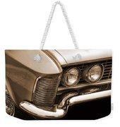 1963 Buick Riviera Sepia Weekender Tote Bag
