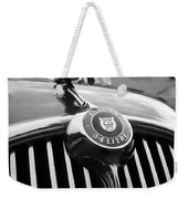 1963 Jaguar Front Grill In Balck And White Weekender Tote Bag