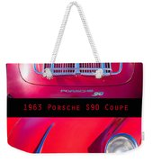 1963 Red Porsche S90 Coupe Poster Weekender Tote Bag