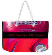 1963 Red Porsche S90 Coupe Poster S Weekender Tote Bag