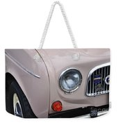 1963 Renault R4 - Headlight And Grill Weekender Tote Bag by Kaye Menner