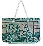 1964 New York World's Fair Stamp Weekender Tote Bag