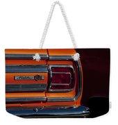1965 Chevrolet Malibu Ss Taillight Emblem Weekender Tote Bag