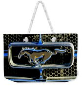 1965 Ford Shelby Mustang Grille Emblem Weekender Tote Bag