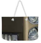 1966 Cadillac Emblem And Headlight Weekender Tote Bag