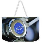 1966 Chevrolet Nova Steering Wheel Emblem Weekender Tote Bag
