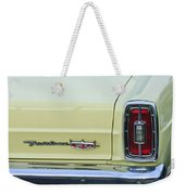 1966 Ford Fairlane Xl Taillight Emblem Weekender Tote Bag