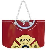 1966 Mac C Model Open Cab Fire Truck Emblem Weekender Tote Bag