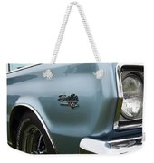 1966 Plymouth Satellite Commando V8 Weekender Tote Bag