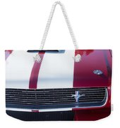 1966 Red Ford Mustang Shelby Gt350 Front Weekender Tote Bag