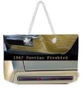 1967 Bronze Pontiac Firebird  Poster S Weekender Tote Bag