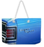 1967 Chevrolet Chevelle Super Sport Taillight Emblem Weekender Tote Bag