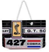 1967 Shelby Cobra Grill Emblem Weekender Tote Bag