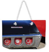 1968 Chevrolet Impala Ss Taillight Emblem Weekender Tote Bag