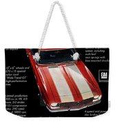 1968 Chevrolet Z/28 Camaro  Weekender Tote Bag