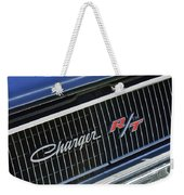 1968 Dodge Charger Rt Coupe 426 Hemi Upgrade Grille Emblem Weekender Tote Bag