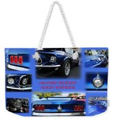 1969 Ford Mustang Mach 1 Fastback Weekender Tote Bag