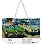 1969 Pontiac Gto And Firebird Weekender Tote Bag