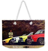 1970 Chevrolet Lineup - This Is What Our Competition Is Going To Have To Live With. Weekender Tote Bag
