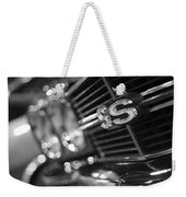 1970 Chevy Chevelle Ss 396 Black And White Weekender Tote Bag