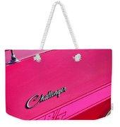 1970 Dodge Challenger Rt 440 Six Pack - Tickled Pink Weekender Tote Bag