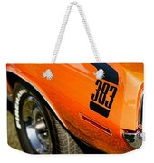 1970 Plymouth Cuda Barracuda 383 Weekender Tote Bag