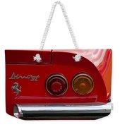 1972 Ferrari Dino 246gt Taillight Emblem Weekender Tote Bag