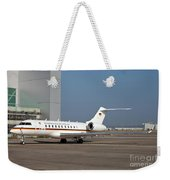 A Bombardier Global 5000 Vip Jet Weekender Tote Bag