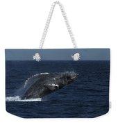 A Breaching Humpback Whale Weekender Tote Bag