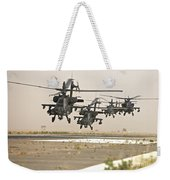 A Group Of Ah-64d Apache Helicopters Weekender Tote Bag