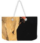A Man Rock Climbing On El Capitan Weekender Tote Bag