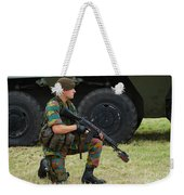 A Soldier Of An Infantry Unit Weekender Tote Bag