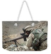 A Soldier Provides Security Weekender Tote Bag