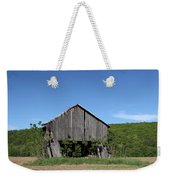 Abandoned Old Farm Building With Blue Sky Weekender Tote Bag