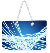 Abstract Of Weaving Line Weekender Tote Bag
