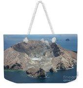 Aerial View Of White Island Volcano Weekender Tote Bag