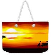 Africa Sunset Weekender Tote Bag by Michal Boubin