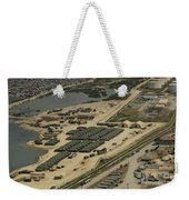 An Aerial View Of The White Beach Weekender Tote Bag