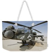 An Ah-64d Apache Helicopter At Cob Weekender Tote Bag