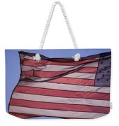 An American Flag At Sunrise Weekender Tote Bag