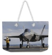 An Aviation Boatswains Mate Directs An Weekender Tote Bag