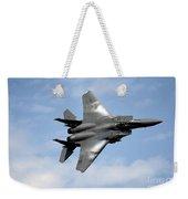 An F-15e Strike Eagle Soars Weekender Tote Bag