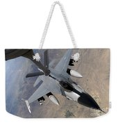 An F-16 Fighting Falcon Receives Fuel Weekender Tote Bag