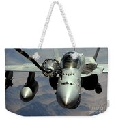 An Fa-18c Hornet Receives Fuel Weekender Tote Bag
