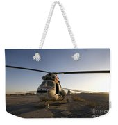 An Iraqi Helicopter Sits On The Flight Weekender Tote Bag