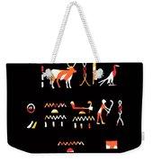 Ancient Egyptian Hieroglyphs Weekender Tote Bag