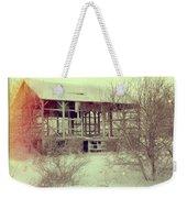 Barn In Snow Weekender Tote Bag