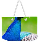 Beautiful And Pride Peacock On A Lawn Weekender Tote Bag